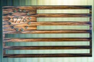 American Flag Metal Art - 1776 American Flag