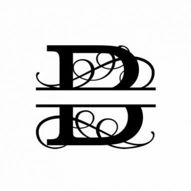 B Monogram Metal Wall Decor