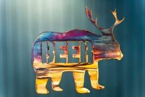 Beer Bear Metal Art