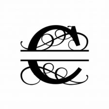 C Monogram Metal Wall Decor