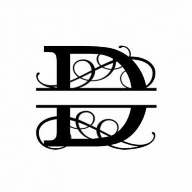 D Monogram Metal Wall Decor