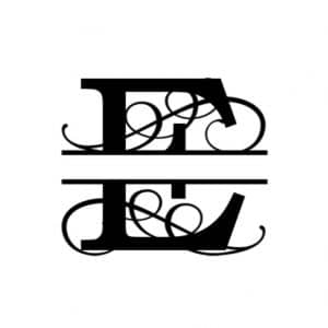 E Monogram Metal Wall Decor