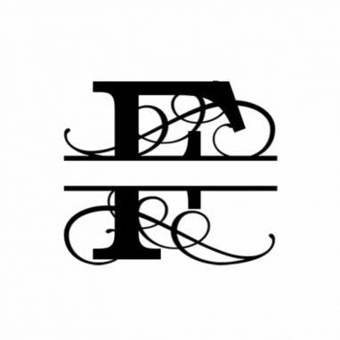 F Monogram Metal Wall Decor
