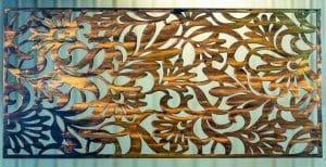 Floral Leaf Metal Art Screen