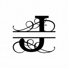 J Monogram Metal Wall Decor