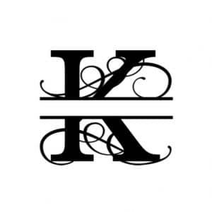 K Monogram Metal Wall Decor