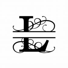 L Monogram Metal Wall Decor