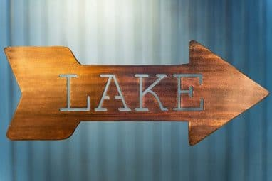 Lake directional sign [Left or Right facing]