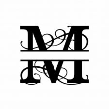 M Monogram Metal Wall Decor