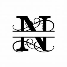 N Monogram Metal Wall Decor