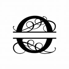 O Monogram Metal Wall Decor