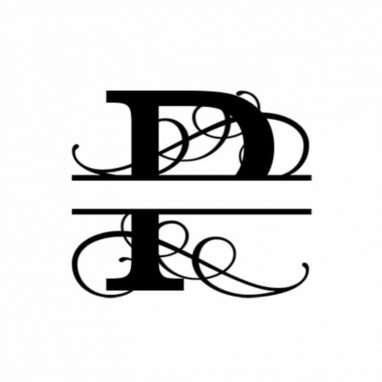 P Monogram Metal Wall Decor