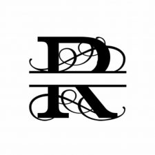 R Monogram Metal Wall Decor