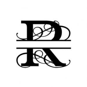 R Monogram Metal Wall Decor