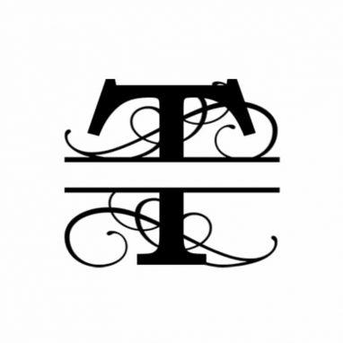 T Monogram Metal Wall Decor
