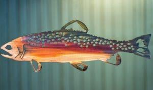 Trout Fish Metal Art