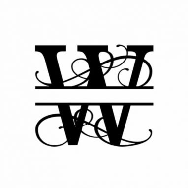 W Monogram Metal Wall Decor