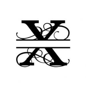 X Monogram Metal Wall Decor,