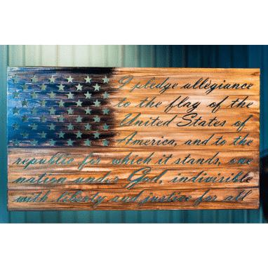 Worn American Patriot Flag