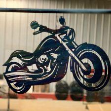 Metal wall art of motorcycle