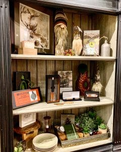 Photo of Artful Ellijay Home Provisions display with Father's Day gifts and gifts for him. This photo was taken at Artful Ellijay a retail store in Downtown Ellijay, GA.